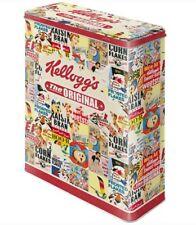 XLarge Retro Storage Tin Box KELLOGG'S 'The Original' Collage Cereal Licensed 4L