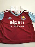 maillot  de football WEST HAM united  angleterre 3 ans adidas  2013