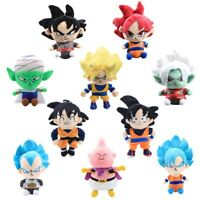 Dragon Ball Z Super Saiyan Son Goku Vegeta Piccolo Buu Kai Plush Toy Soft Dolls