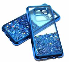 For Samsung Galaxy S8 - Blue Motion Glitter Star Sparkle Liquid Water Case Cover