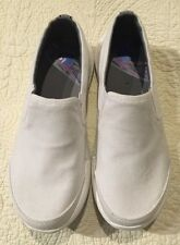 NEW Teva Wander Slip On White Canvas Loafers Shoes Women 6.5