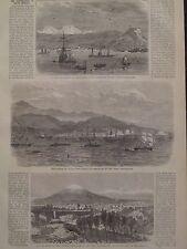 Peru Earthquake Plaza Of Arequipa Volcano South America 1868 Harper's Weekly