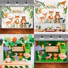 Jungle Safari Animal Balloon Garland Backdrop Photography Birthday Party Decor