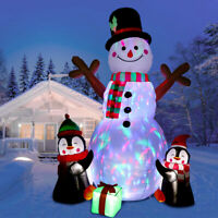 6ft Christmas Inflatable Snowman Air Blown Light Up Outdoor Yard Event Decor