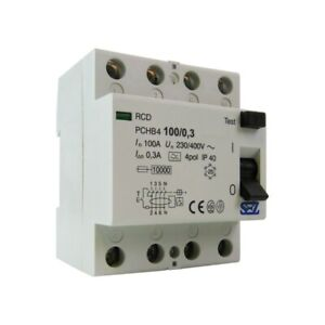 FI-Schalter 100A 300mA 4P 10kA TYP A FI-Schutzschalter Fehlerstromschutzschalter