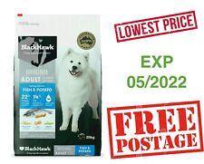 BLACK HAWK Dry Dog Food Adult Fish And Potato 20 KG EXP : 07/2022 _ FREE POSTAGE