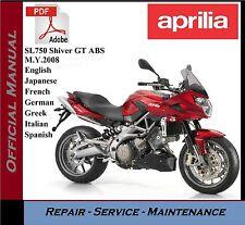 Aprilia SL750 Shiver GT ABS M.Y.2008 Workshop Service Repair Manual