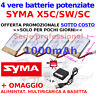 VERE batterie potenziate 1000 professional Drone SYMA X5C SC SW HEADLESS NUOVE
