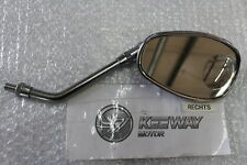 Keeway Super Ligero 125 ESPEJO RETROVISOR MIRROR DERECHO CROMO #r5510
