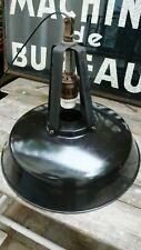 Lampe Industrielle Suspension Métal Tôle émaillée MAZDA Réflectolux XXL 1950