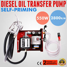 New Electric Oil Transfer Pump 60L/Min Liter Counter 220V 2800R/Min Single-Phase