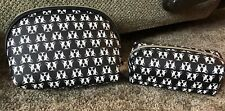 Dabney Lee Cosmetic Bag Set!! Travel Case NWT Dogs Frenchie Boston Terrier