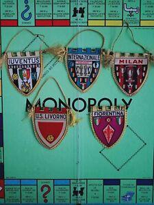Rare Fanion calcio football Bandiera Milan Ac Juventus Inter milan 60's vintage