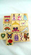 17 Rubber Stamps Stamping Cards Paper Decoration ALL NEW Princess Hearts Flowers