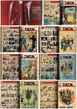 TINTIN (BELGE) SUPERBE RELIURE 1949 Année Complète - 6 Couvs. HERGé/TINTIN...TBE