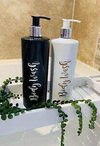 Refillable Pump Bottle, Bathroom Pump Bottles, Reusable Bottles