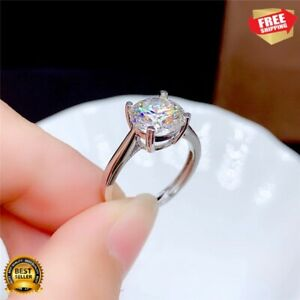Ring 0.5CT 1CT 2CT 3CT VVS Lab Diamond Fine Jewelry for Women Wedding Party