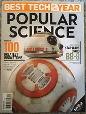 Popular Science Best Tech Of The Year Greatest Innovation Dec 2015 FREE SHIPPING