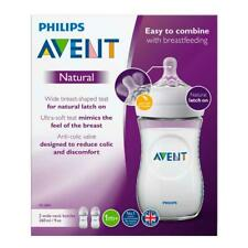 Philips Avent Natural Twin 260ML Feeding Bottles LATCH ON