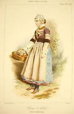 C Deshays Costume traditionnel breton Pont l'Abbé Quimper Bretagne c1840 lithogr