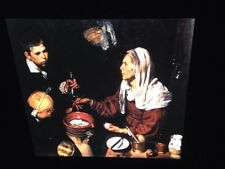 """Diego Velazquez """"Old Woman Cooking Eggs"""" 35mm Color Art Slide Spanish Baroque"""