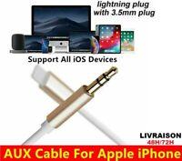 Câble Aux Audio Jack iPhone 3.5mm Voiture Stéréo transfert Pour Tout Iphone