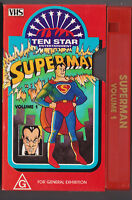 Rare! Superman Volume 1 VHS VIDEO Ten Star Entertainment Classic Cartoons