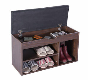 New Basicwise Entryway Storage Shoe Rack with Top Seat