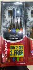 Colgate Slim Charcoal Toothbrush 17 x Slimmer Soft Bristles 4PK CHRISTMAS GIFT