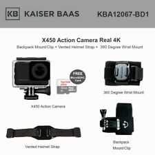 Kaiser Baas KBA12067 X450 Action Camera Real 4K 30FPS 14MP w/ accessories