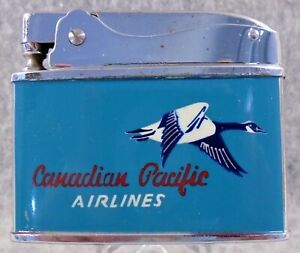 Vintage Canadian Pacific Airlines flat advertising lighter GENTLY USED HTF