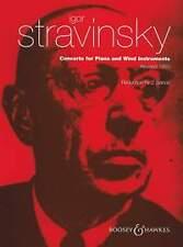 STRAVINSKI Concerto per pianoforte & strumenti a fiato 2 PNO
