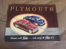 1950 Plymouth Speciale Deluxe Grande Colore Brochure Catalogo Prospekt