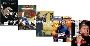 Death Wish 1-5 DVD Collection (separate DVD's) Brand New and Sealed Australia R4