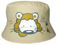Chapeaux beige pour garçon de 2 à 16 ans en 100% coton