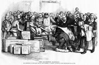 THOMAS NAST STUFFED BALLOT BOX GREELEY 1872 KU KLUX RADICAL BLACK REPUBLICAN