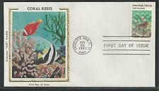 # 1827-1830 Reefs, Coral Colorano Silk Cachet, 1980 First Day Covers