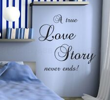 A love story Wall Quotes decal Removable DIY stickers home decor Vinyl art mural