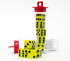 10 Bunco Dice Game - Yellow w/ Black (Party Set Family Night)