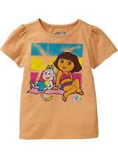 NWT 12-18 MON. OLD NAVY DORA THE EXPLORER BOOTS T SHIRT ORANGE TOP TWINS GIRLS