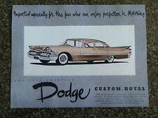 1959 DODGE CUSTOM ROYAL SALES BROCHURE  '' RHD AUSTRALIAN VERSION''