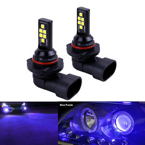 2x H10 Blue Purple LED Bulbs SMD 3030 Fog Driving Light Super Bright