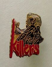 IRON MAIDEN KILLERS SHAPED METAL PIN BADGE FROM THE 1980's OLD VINTAGE RETRO