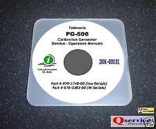 Tektronix Tek Pg506 Pg 506 Pg 506 Hilo Serials Service Operating Manuals Cd