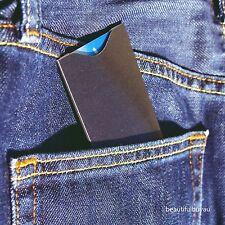2 RFID Blocking Wallet Black Sleeve ID Protector Anti Theft Credit Card Sleeves