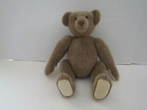 VINTAGE ARTIST CRAFTED TEDDY BEAR 13 INCH STITCHED NOSE HUMP BACK JOINTED BEAR