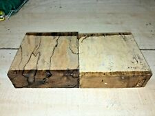 160X160X50MM 2PCS LOT 117A SPALTED BEECH  WOODTURNING FIGURED TIMBER BLANK