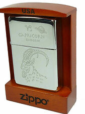 Zippo Steinbock Capricorn chrom poliert in Holzbox , Special Edition 2002181