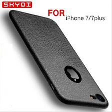 De luxe Ultra fin Étui Cuir Doux TPU étui coque pour Apple iPhone 6 6s 7 Plus