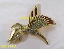Designer Dolphin Ore Enamel Bird Pin Brooch With 83 Swarovski Crystals 1714Aup#